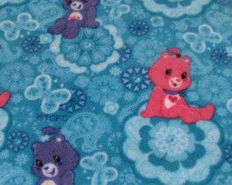 Care Bears Fleece on Aqua 59 Inches wide