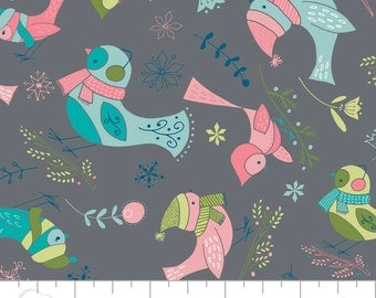 Winter Wonderland Birds on Iron by Camelot Fabrics Cotton