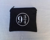 Harry Potter Platform 9 3/4 Embroidered Zipper Pouch