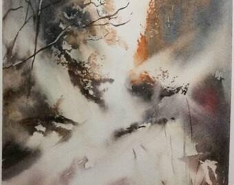 Original Watercolour Painting Hafod estate in Wales