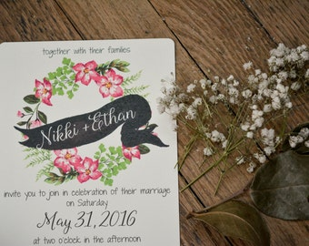 FLORAL|Wedding Invitation Set #37