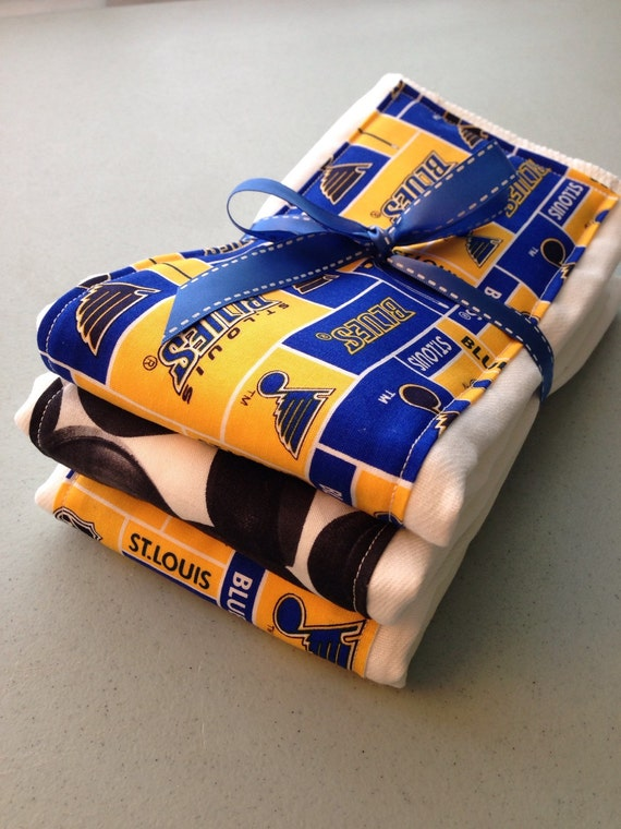 Burp cloths hockey St Louis Blues baby shower t baby