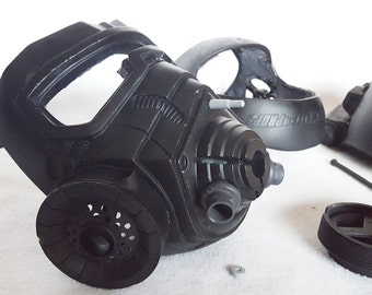 Fallout NCR Elite Riot Gear Raw Cast Helmet Kit - Gas Mask, Post-Apocalyptic, Wastelands Gear - Screen Accurate