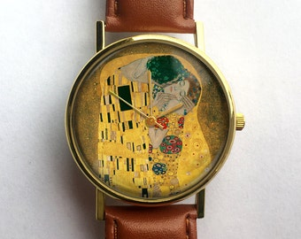 Gustav Klimt Watch, The Kiss Watch, Unisex Watch, Symbolism, Ladies Watch, Men's Watch, Analog, Gift Idea