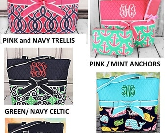 DIAPER BAGS - NEW Colors and Prints--Monogrammed/ Baby Gift/ Baby Shower/ Boys/ Girls