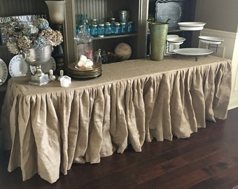 Burlap Tablecloth Wedding Burlap Tablecloth - Round, Rectangle, or Square - SELECT A SIZE - On Sale - Custom Orders are Welcome