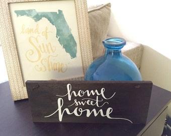 Home Sweet Home - Rustic Wood Sign - Farmhouse Home Decor