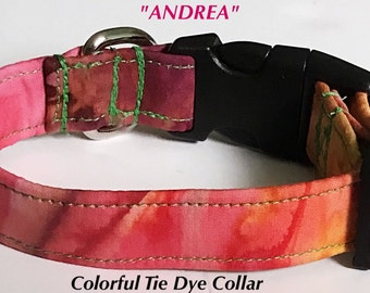 Colorful Tie Dye Collar for Dogs and Cats