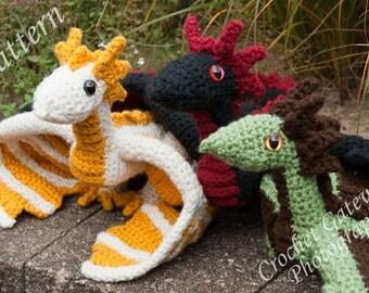Dragon pattern, Triplet Dragon Crochet Pattern