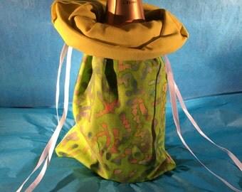Wine Bag - Line Rainbow/Yellow
