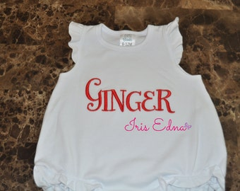 Embroidered Baby Romper / Personalized Baby Romper / Baby Romper with Name