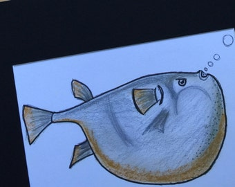 The fish - Original drawing 21*30 cm - uooops