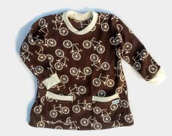 Baby Girl Dress, Infant Girl Fleece Dress, Little Girl Clothes, Baby Girl Winter Dress, Girl Micro Fleece Dress, Baby Girl Gift
