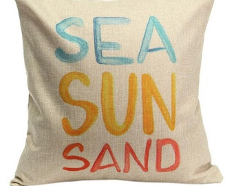 Sea Sun Sand - Pillow Cover