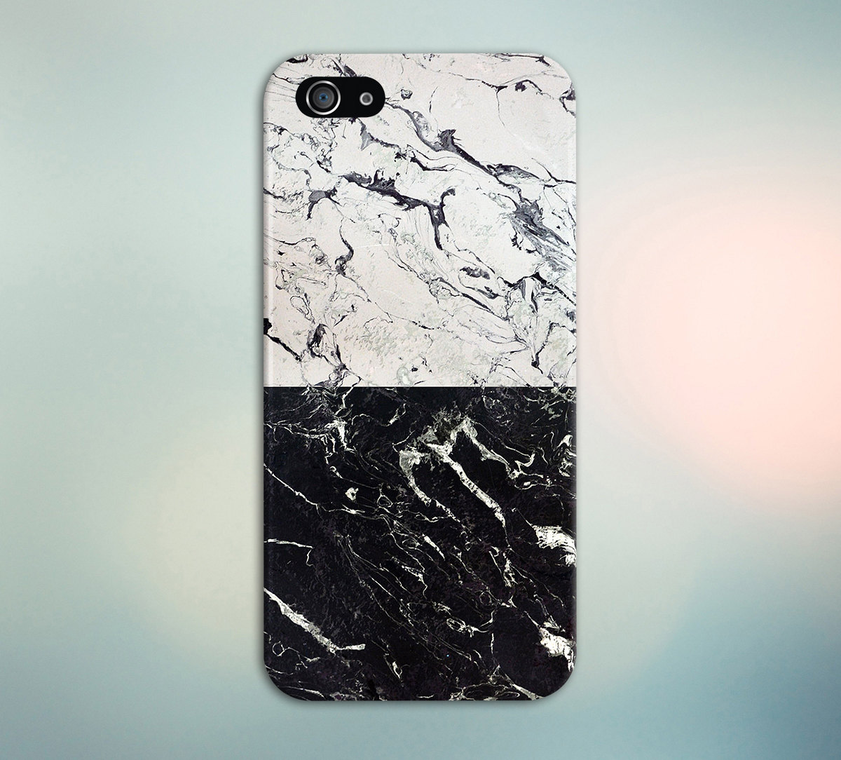 Cracked White X Black Marble Split Design Phone Case For IPhone 8 6 Plus Samsung Galaxy S8 Edge S6 And Note