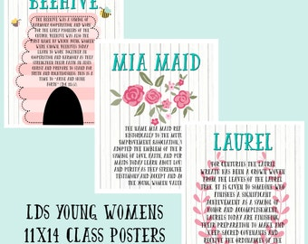 11x14- LDS Young Women Class Posters- - digital download