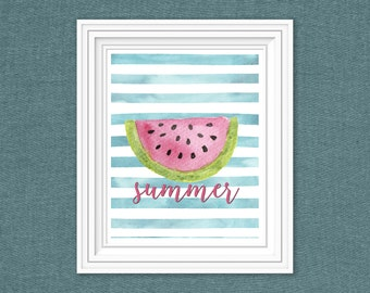 Summer- Watermelon- 8x10 digital download