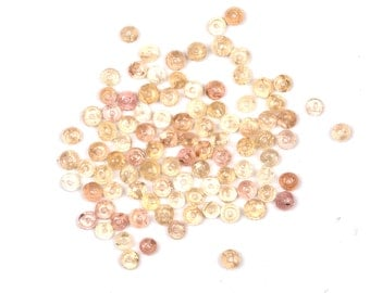 Imperial Topaz Beads - rondelle rounds faceted