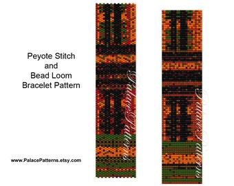 Freeform Bracelet Pattern - PP136 - Bead Loom Bracelet Pattern - Peyote Stitch Bracelet Pattern