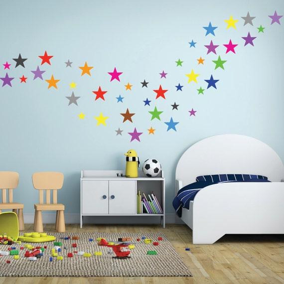 wall decals stars set of 60 stars vinyl stickers nursery stars