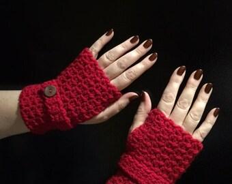Gloves Fingerless Crochet, Texting Gloves, Knit Gloves