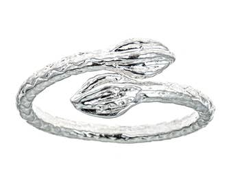 Tulip Ends .925 Sterling Silver West Indian Style Ring