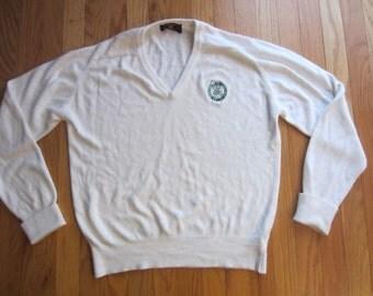 Vintage 80s 90s Boston Celtics V Neck Sweater NBA