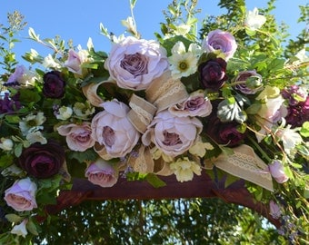 Wedding Arch, Archway Swag, Wedding Ceremony Swag, Arbor Arch, Church Ceremony Swag,  Floral Arch, PeonyArch, Floral Arbor