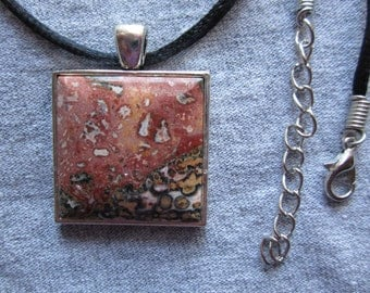 LEOPARDSKIN JASPER  NECKLACE