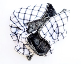 The Perfect Black and White Plaid Blanket