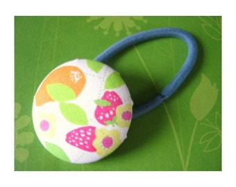 Large Strawberries Elastic Ponytail Holder