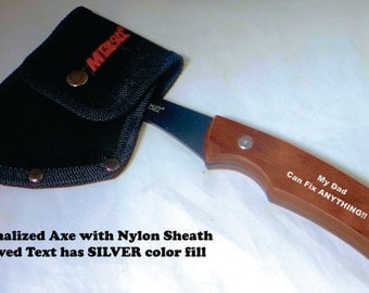 Hand Axe   Christmas Gift   Personalized Axe   Personalized Hatchet   Groomsman Gift   Gift for Dad   Camping Gift   Groomsman gift axe