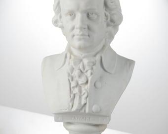 German white parian bisque bust of Mozart antique