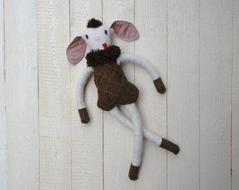 sheep plush stuffed toy ecofriendly upcicled