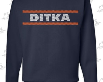 Mike Ditka Chicago Bears 1985 Navy Sweatshirt