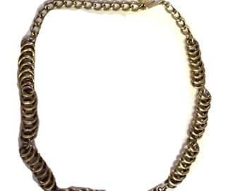 Goldplated Vintage Chain Collar Necklace