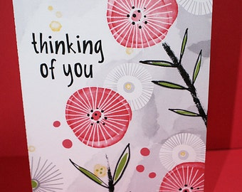 Thinking of You Card-Friendship Card-Flower Card-Friend Card-Thinking of You