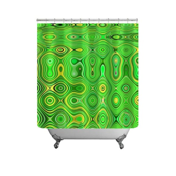 Bright Green Shower Curtain-Funky Bathroom by NaturalLightStudio