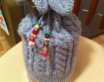 Hand Knit Kids Winter Hat/Great winter hat/ Warm winter hat / Gift for Girls