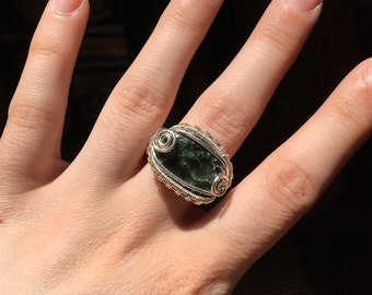 Seraphinite Wrapped Ring