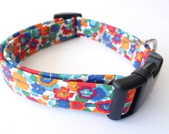 Shlee Liberty Fabric Dog Collar