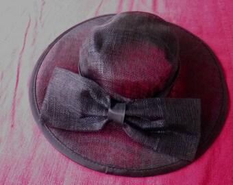 Superb picture Hat Hat ceremony black sisal