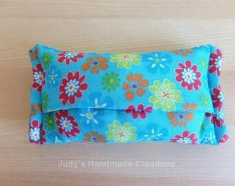 Tissue Pack Holder, Tissue Holder, Tissue  Cover, Tissue Pack Case, Flower Tissue Holder, Fabric Tissue Holder, Travel Tissue Case