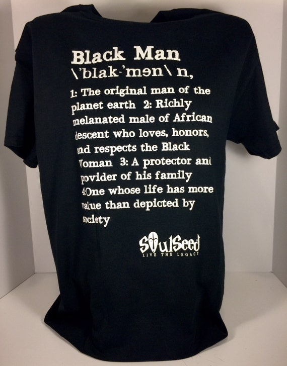Definition of a Black Man T-Shirt Gifts for Black Man
