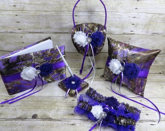 Purple Camo Wedding Set, Purple Camo wedding, Purple Camo Wedding Accessories, Customize, Purple True Timber Camo Wedding