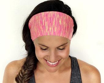 Yoga Headband -  Running Headband - So Watermelon Print - Fitness Headband - Fitness Apparel - Wide headband