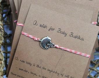 Custom Baby shower wish bracelets