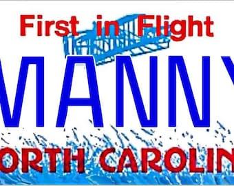 Personalized North Carolina Refrigerator Magnet State License Plate Replica