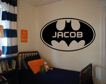 Batman Wall Decal Etsy - Custom vinyl wall decals logo