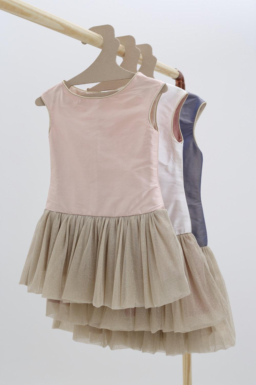 robe petite fille d 39 honneur robe tutu en soie blush pour. Black Bedroom Furniture Sets. Home Design Ideas